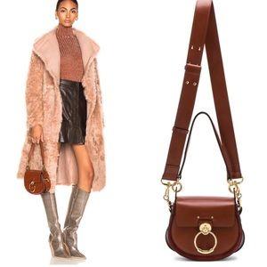 Chloe Small Tess Shiny Calfskin Shoulder Bag NWT